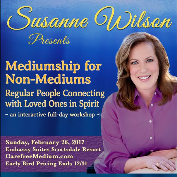 Mediumship for Non-Mediums w Susanne Wilson, Carefree Medium banner