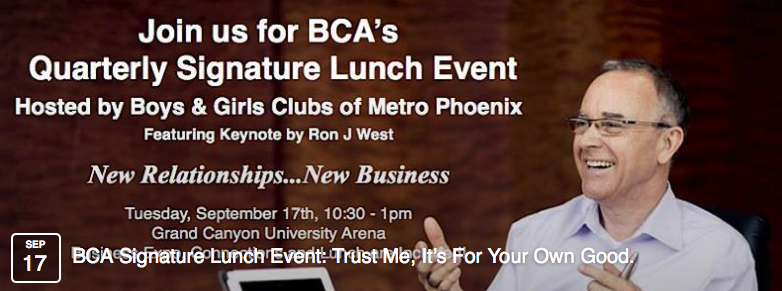 Business Clubs America Quarterly Signature Event, Grand Canyon University Arena banner