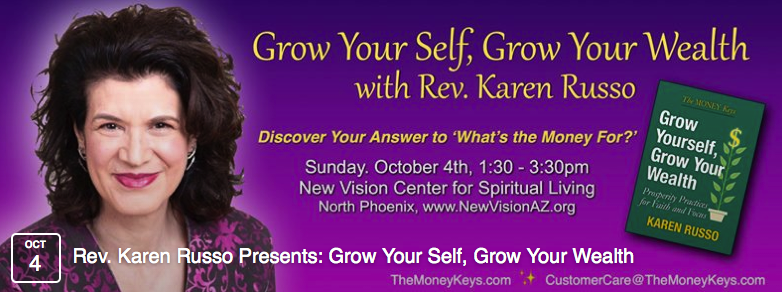 Karen Russo, Your Spiritual Guide in Wealth Creation, Author, Speaker, Radio & Television Personality banner