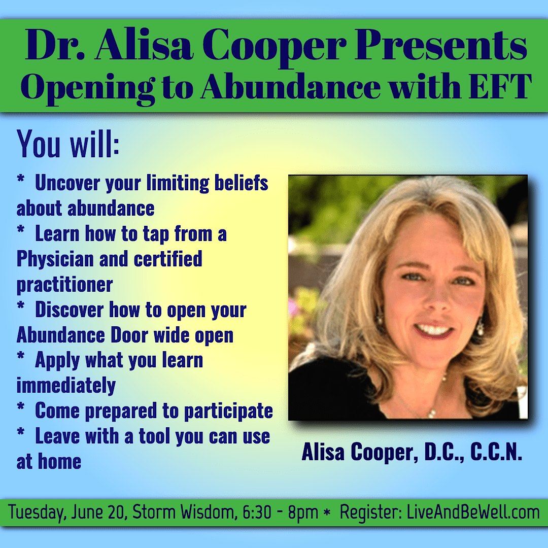 Dr. Alisa Cooper Presents: Opening to Abundance with EFT banner