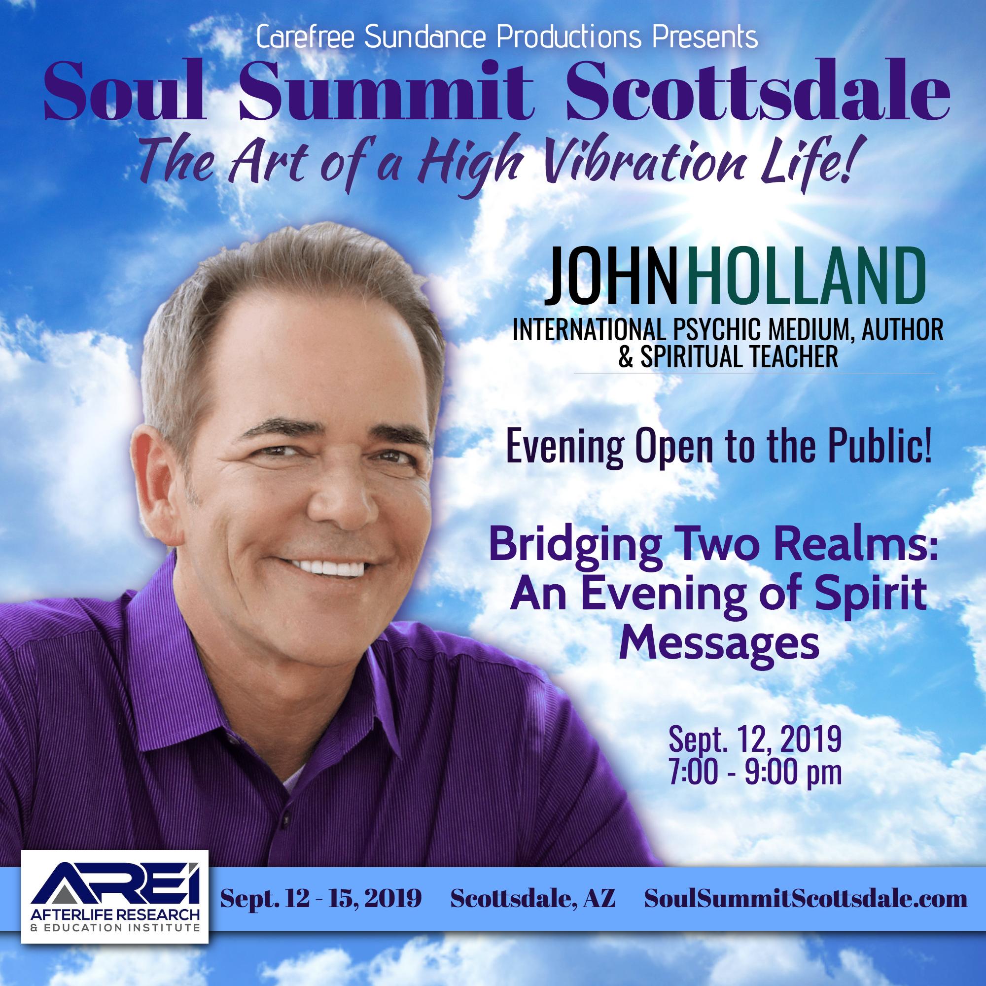 John Holland Presents: Bridging Two Realms – An Evening of Spirit Messages banner