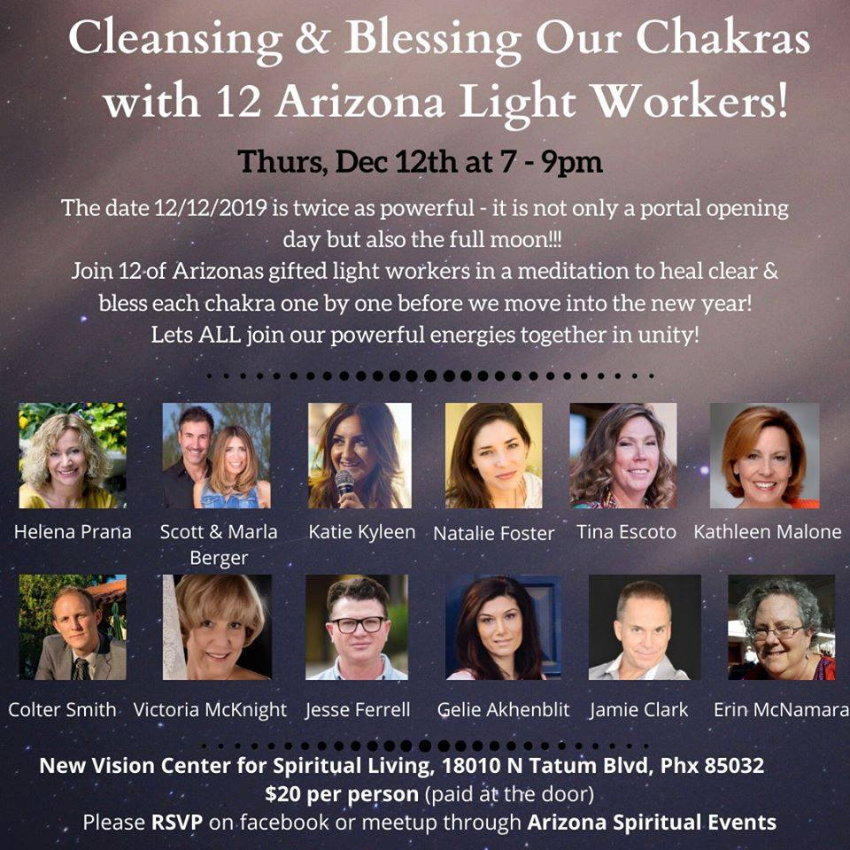 Cleansing & Blessing Our Chakras with 12 Arizona Light Workers! banner