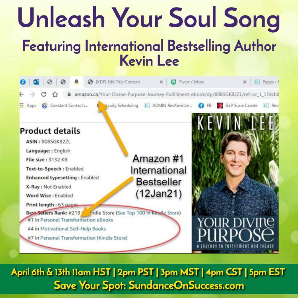 Rev. Kevin Lee Bestselling Author