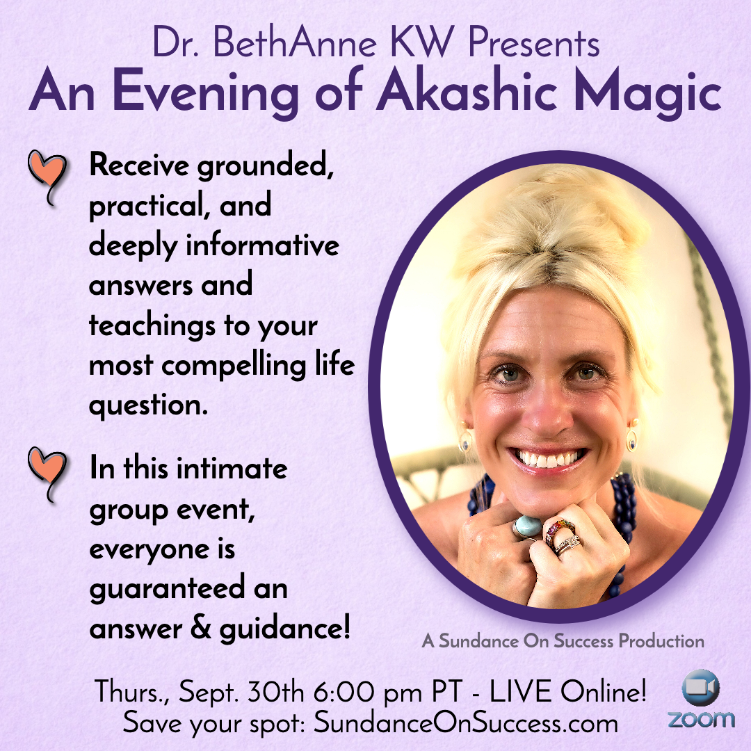 Dr. BethAnne KW's Evening of Akashic Magic banner
